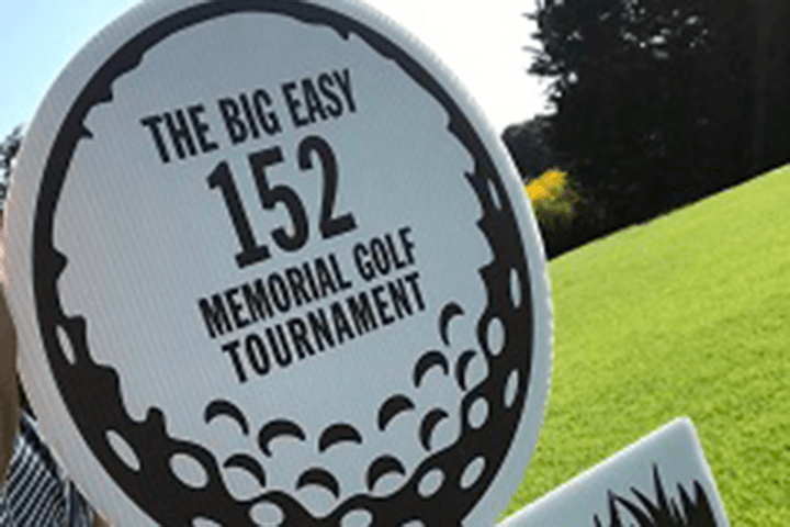 The Big Easy 152 golf tournament sign
