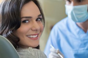 woman smiling dentist