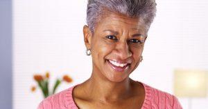 woman enjoying her dental implants in Chesterfield
